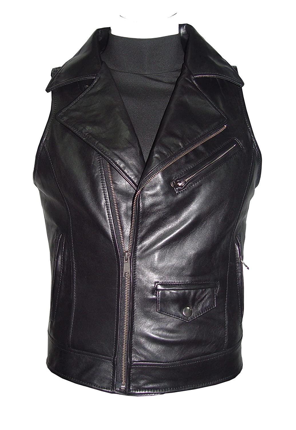 NETTAILOR Tall Big Man 1161 Big Tall Size Leather Casual Vest