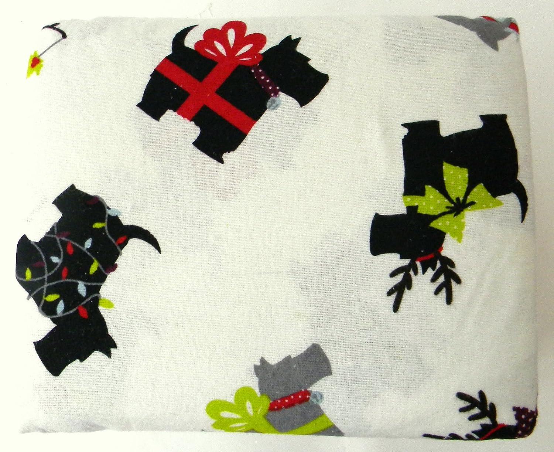 Home Accents Cotton Flannel Scottie Dog King Size Sheet Set Amazon