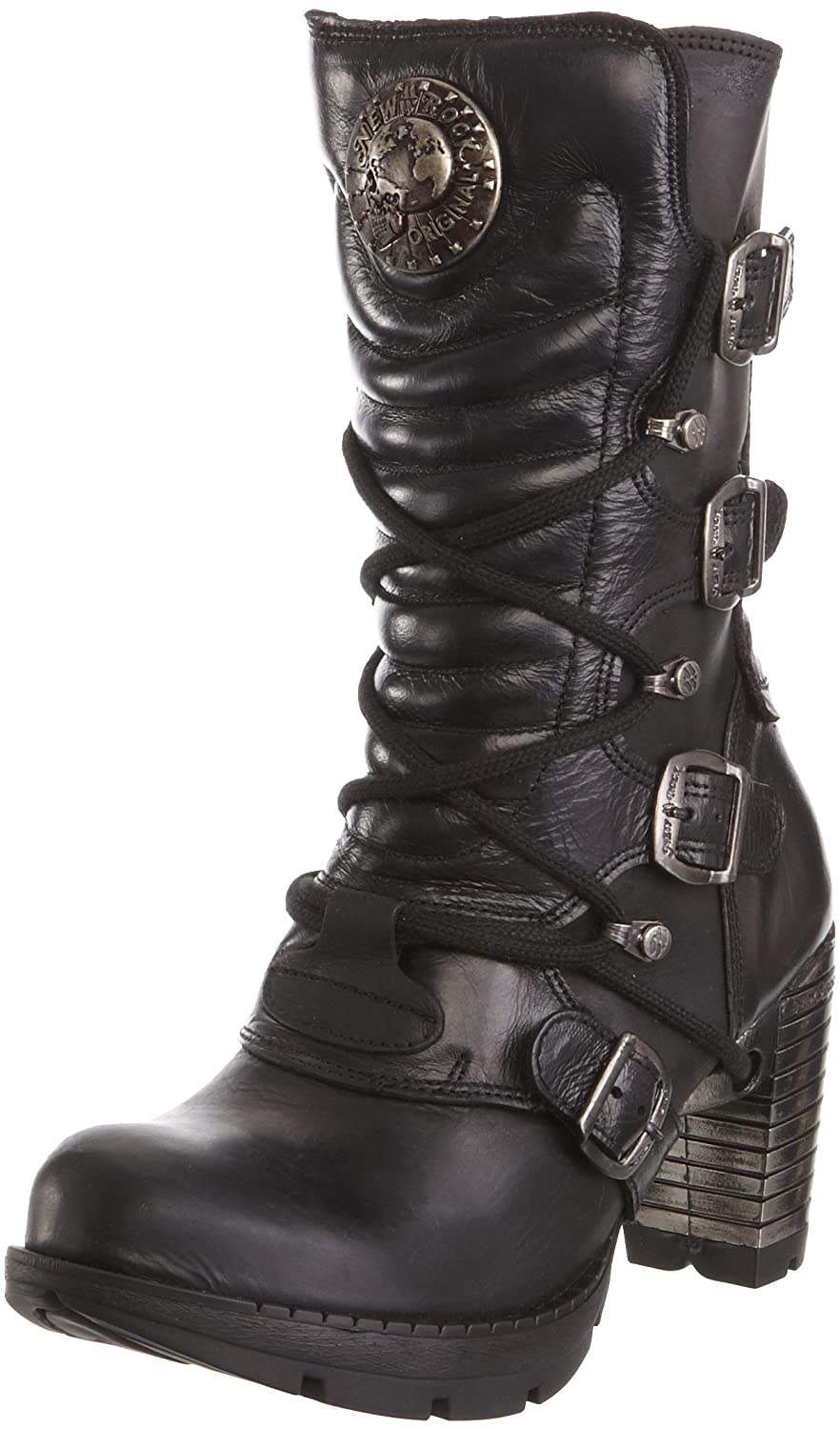 New Rock Womens M TR003 Gothic Leather Boots B004P5O5AW 41 M EU Black