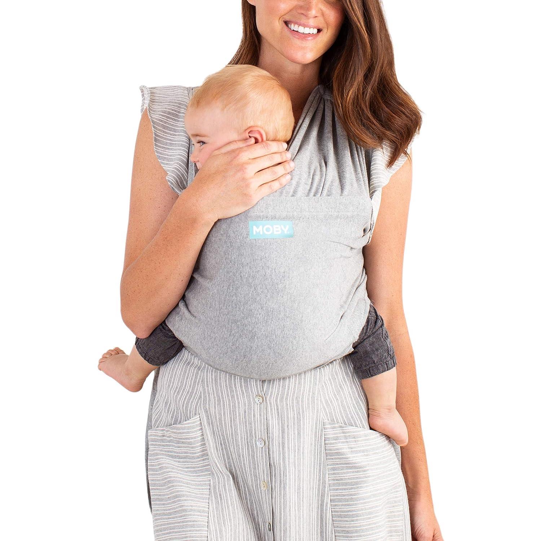 MOBY Fit portabeb/és para reci/én nacido hasta 30 libras transpirable para beb/é desde el nacimiento talla /única unisex gris el/ástico hecho de 100/% algod/ón