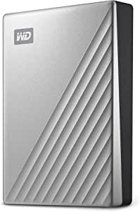 WD 4TB MyPassportUltra SilverPortable External Hard Drive, USB-C - WDBFTM0040BSL-WESN