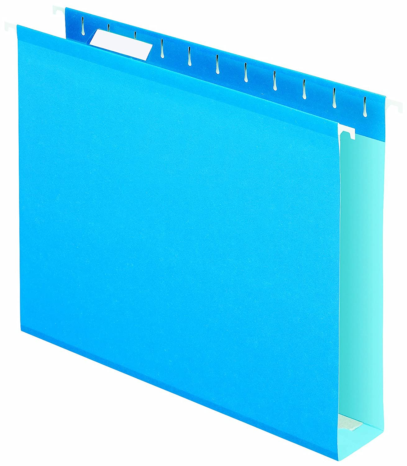Pendaflex Extra Capacity Reinforced Hanging Folders, 2-Inch Capacity, Letter, Blue, 10/Box 018405