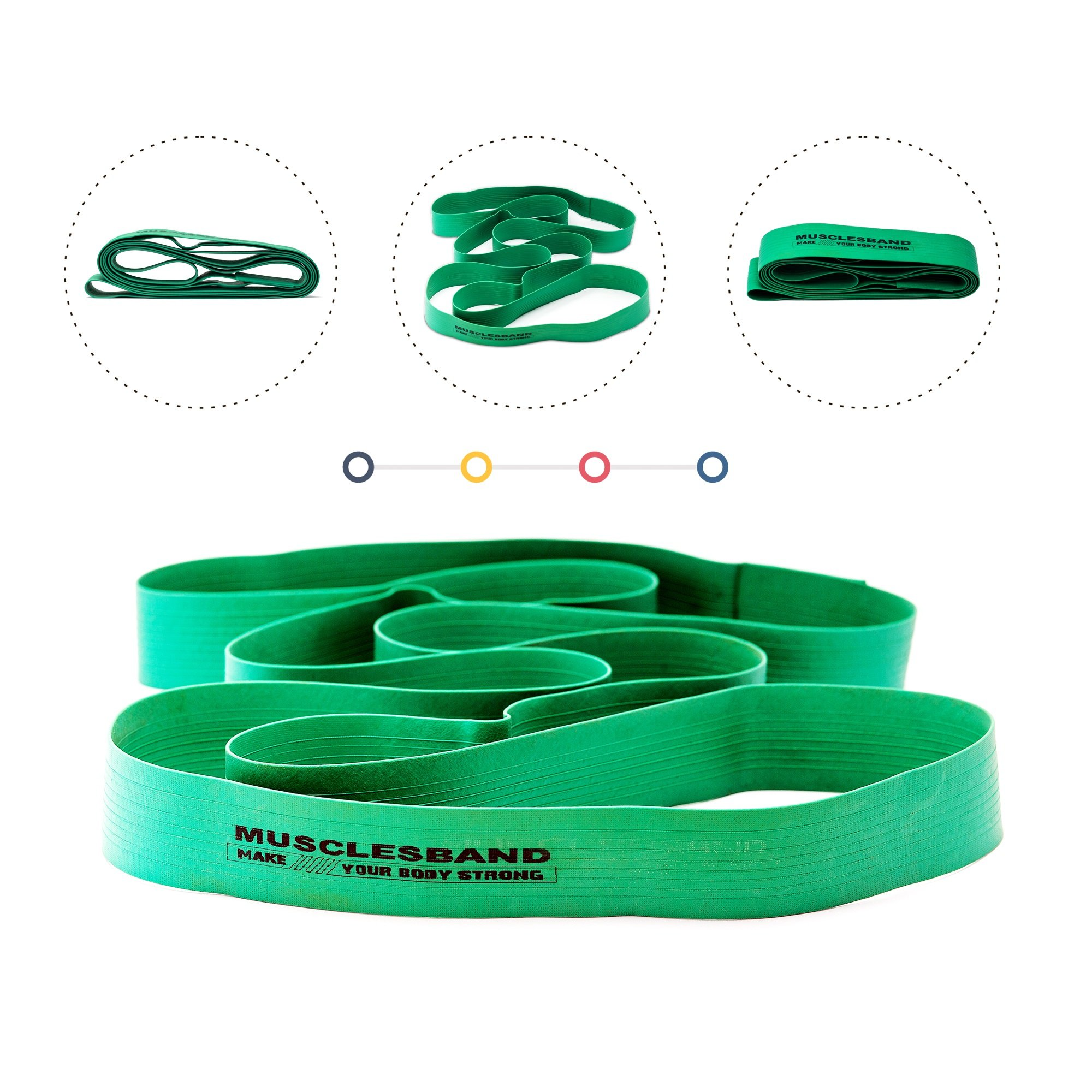 Stretch Band - Yoga band - Ballet band - Training band - Pilates band - Dance bands - Strength bands - Gymnastics bands - Resistance stretch rubber band for women men kids daily exercise and workout by Musclesband