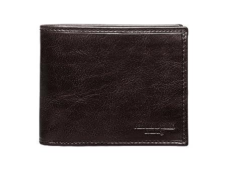 074bc4852a5992 Ferdinand SABAC handgefertigte Leder Geldbörse Portemonnaie Brieftasche  Toledo für Herren. Dunkelbraun aus echtem hochwertigen Italienischen