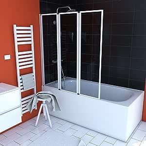 Aurlane FAC277 - Mampara bañera, color blanco: Amazon.es: Bricolaje y herramientas