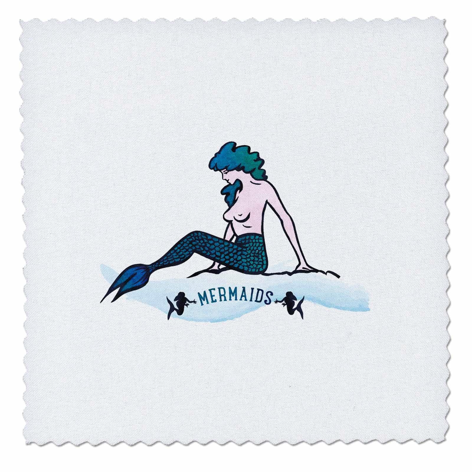3dRose Sven Herkenrath Fantasy - Fantasy Mermaid Animal Fish Water Sealife - 22x22 inch quilt square (qs_280315_9)