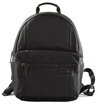 66ced158c2259e Amazon.com | Michael Kors Travis Large Canvas Backpack Black ...