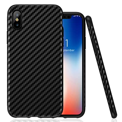 For iPhone X Slim Shockproof Protective Case Cover Carbon Fiber Design For iPhone X