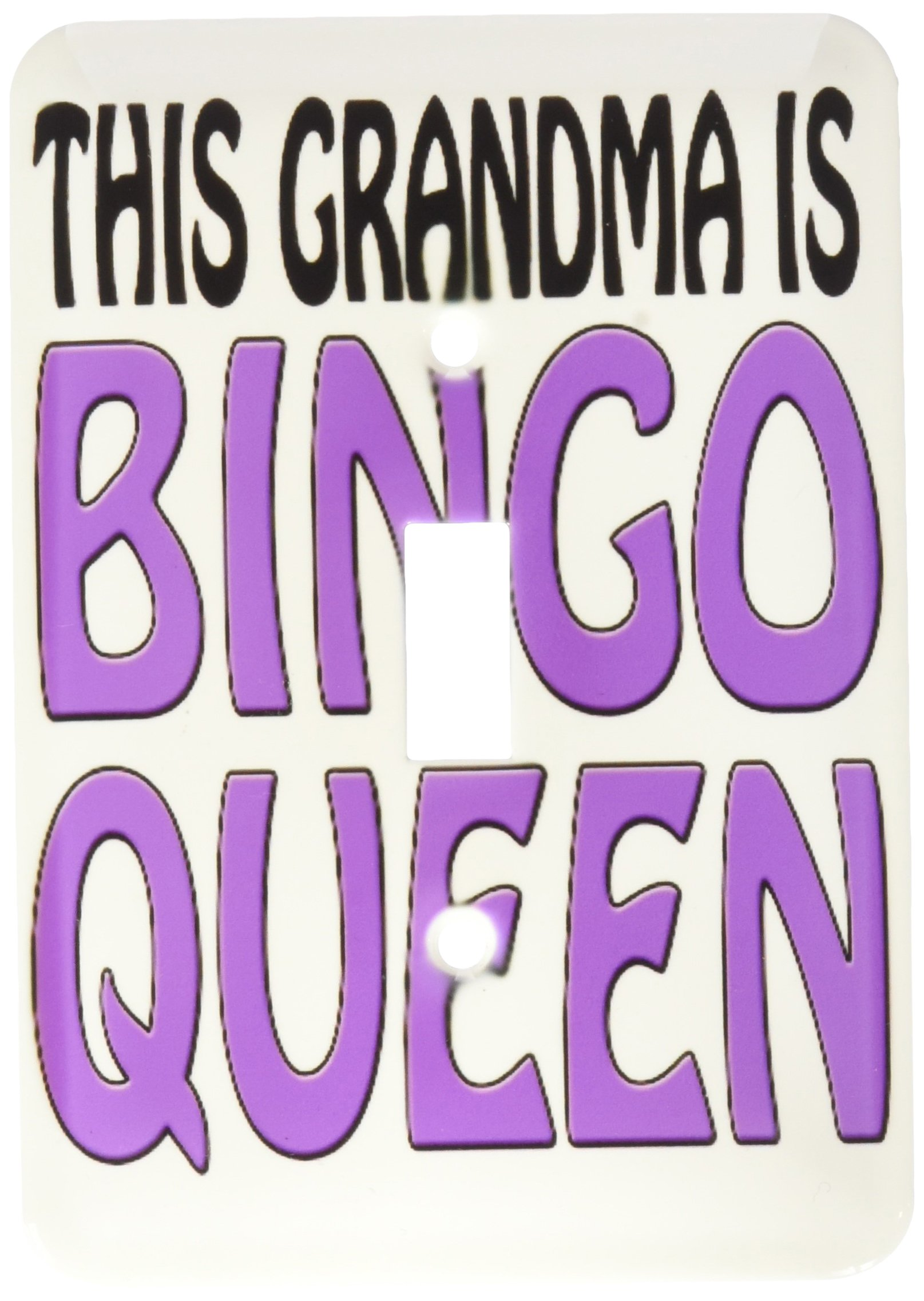 3dRose lsp_149773_1 This Grandma Is Bingo Queen Purple Single Toggle Switch by 3dRose