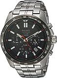 [セイコー パルサー] SEIKO PULSAR 100m防水 ソーラー クロノグラフ 腕時計 メンズ PZ5005 [並行輸入品]