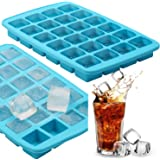 OMGD Square Cube 1.1 Inch Cube Silicone Ice Cube Tray - Ice Molds - Chocolate Mold - Candy Mold - Makes 24 Cubes (Turquoise)