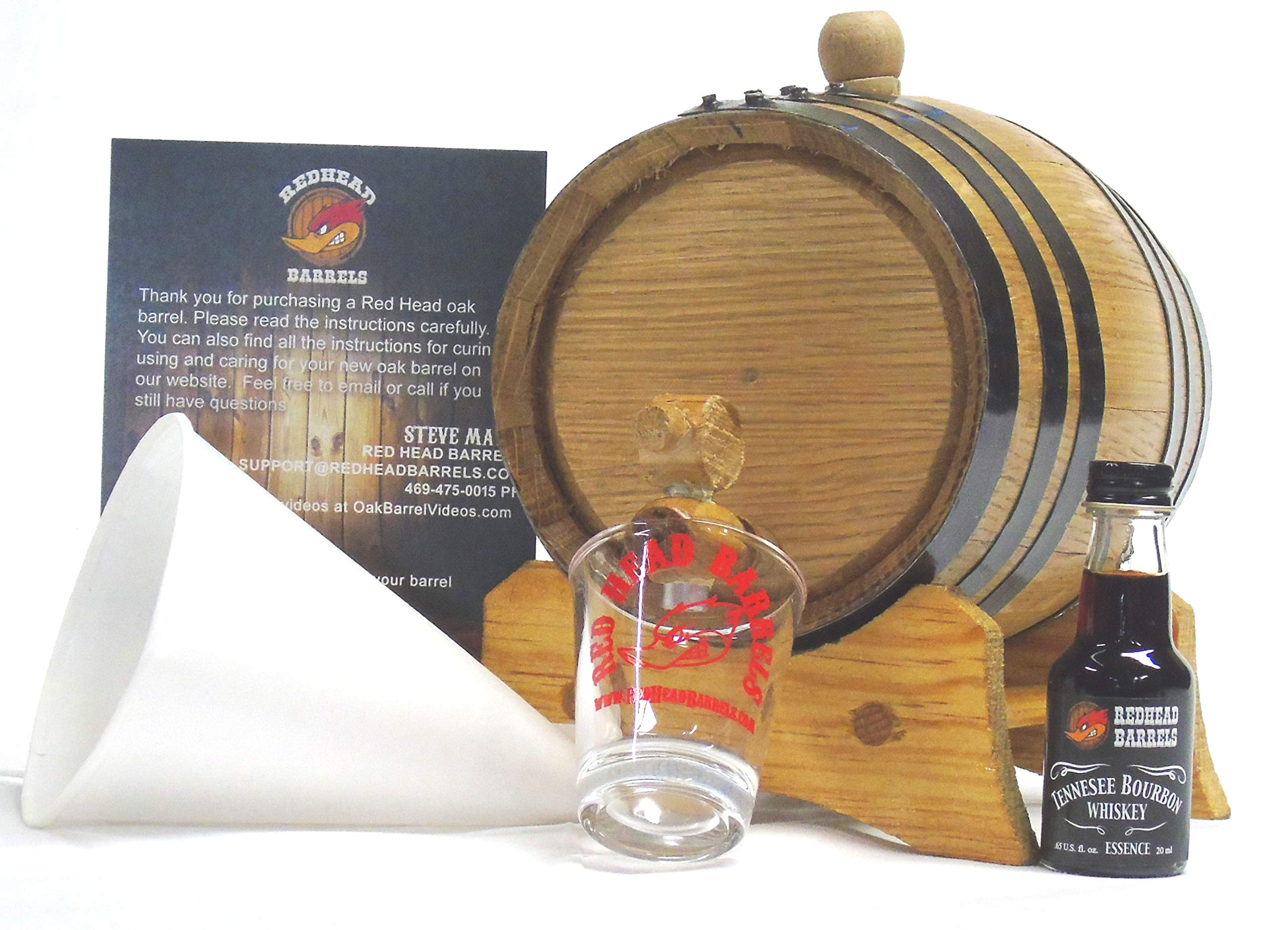 1 Liter Charred Oak Barrel Flavor Kit w/Essence for making your own flavored alcohol (Tennessee Bourbon Whiskey)