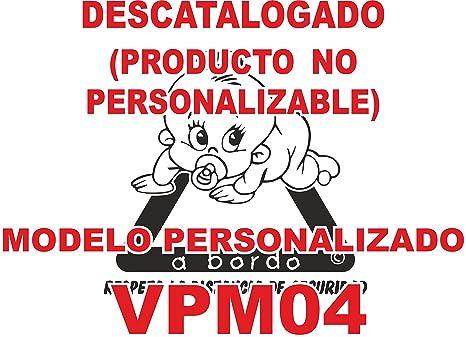 Pegatina bebé a bordo personalizada VPC04. DISEÑADO, VENDIDO Y ENVIADO POR VPM ORIGINAL. 100% PRODUCTO ESPAÑOL. NO COMPRAR AL VENDEDOR