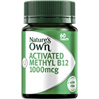 Nature's Own Activated Methyl B12 1000mcg - Mecobalamin - For Metabolic Reactions - Vegetarian