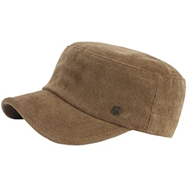 7bef1b6b535 RaOn A184 Army Cap Winter Basic Style Plain Corduroy Golf Club Cadet Military  Hat (Brown