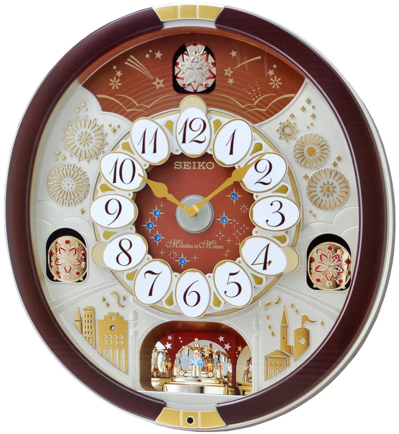Seiko Special Collector's Edition Melodies in Motion Wall Clock with Swarovski Crystals by Seiko