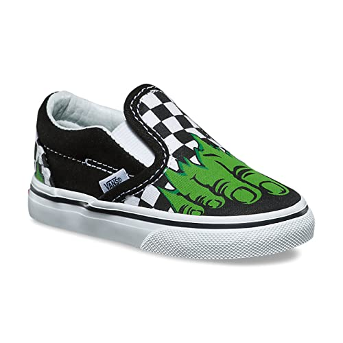 c9fb7d0a6c7a Vans Classic Slip-On (Marvel) Hulk Checkerboard VN000EX8U44 Toddler Size 2.5