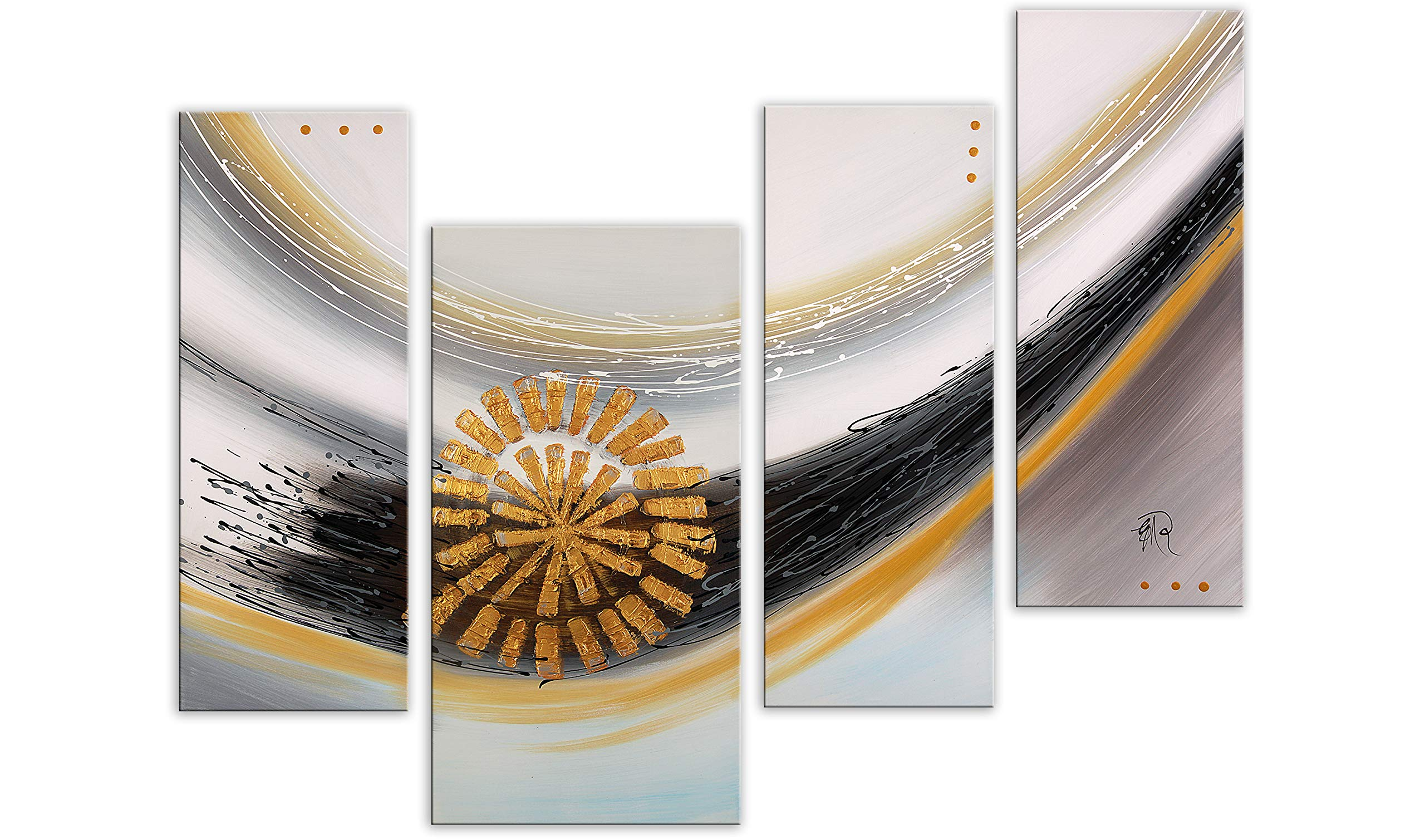 World Art TW60163 Aesthetic Wooden Frame Abstract, 120x130x3 cm, Size: 48 x 52 x 2 Inch