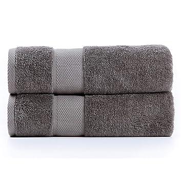 Sumc Toallas de baño 600GSM Toallas de baño de algodón Conjunto de 2 pieza Toallas de