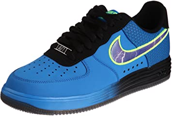 Nike Men's Lunar Force 1 Lthr Photo Blue/Court Purple/Black Basketball Shoes  9