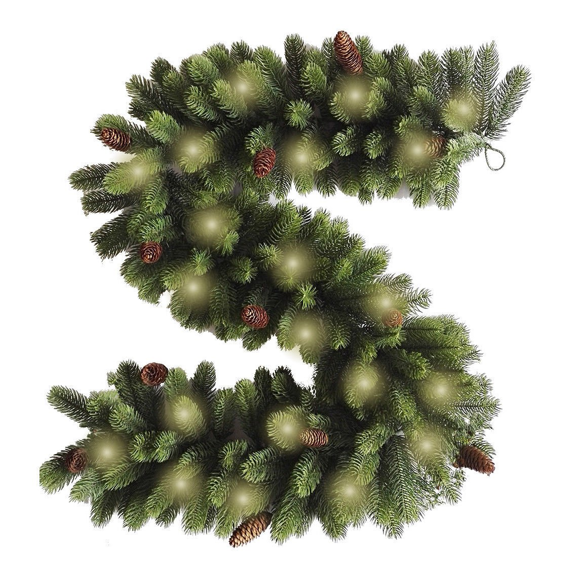 Best Artificial Premium Real Feel Weihnachtsgirlande mit 12 ...