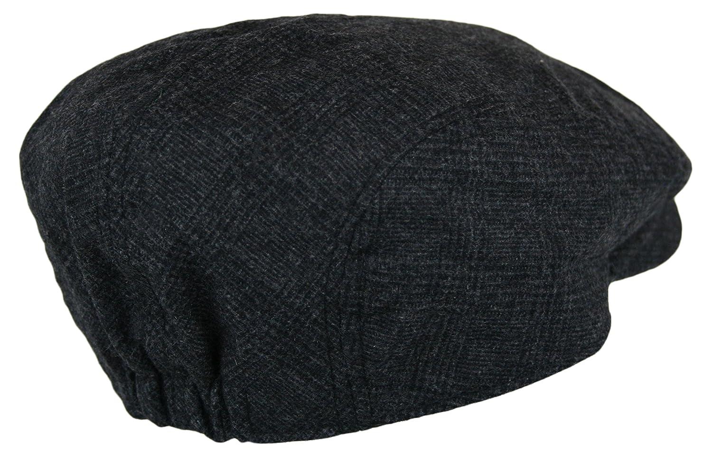 baf6d8ebfc Men's Herringbone Wool Tweed Newsboy Ivy Cabbie Driving Hat