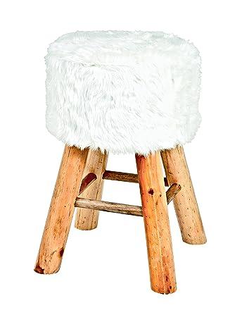 Haku Möbel Hocker 30 X H 45 Cm Weiß Amazonde Küche Haushalt