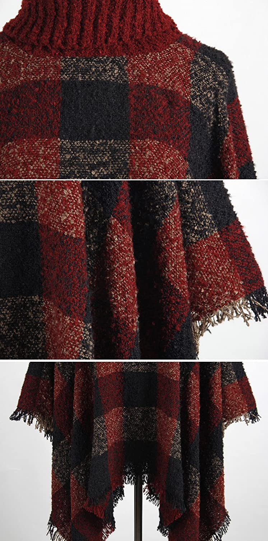 Qzunique Women Turtleneck Poncho Sweater Knit Cape Pullover Shawl Corporation Br120af Single Pole Arc Fault Circuit Breaker 20amp Product Description