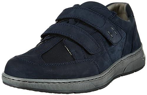 Waldläufer Hadrian, Zapatillas con Velcro Hombre, Azul (Marine), 42 EU: Amazon.es: Zapatos y complementos