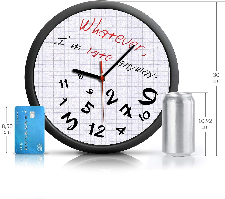 je suis en retard de toute fa/çon avec un cadran unique Oramics Horloge murale mode Quoi