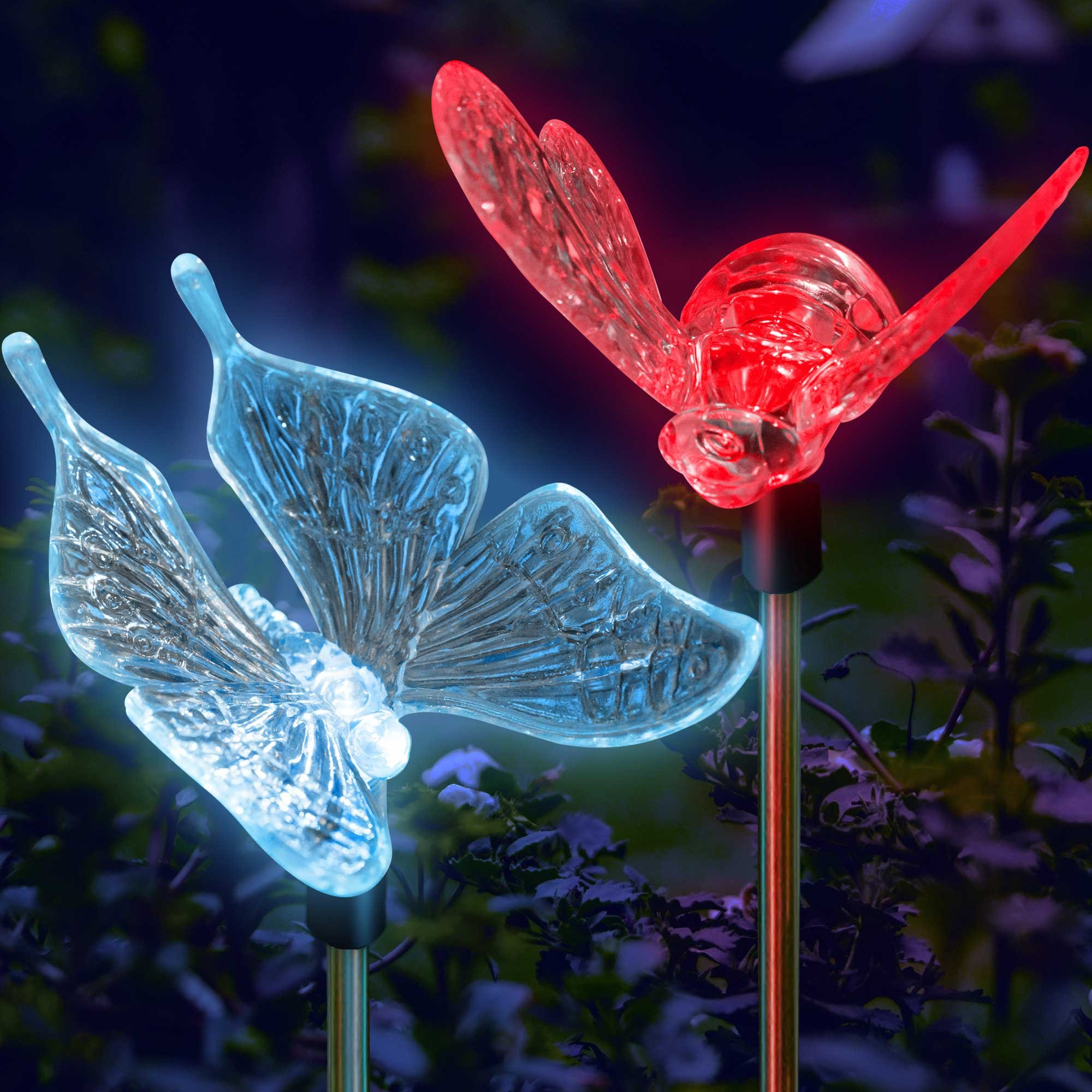 SolarDuke Solar Garden Outdoor Stake Lights Butterfly and Bumble Bee Garden Lighting Path Decoration Color Changing Patio Lawn Backyard Decor by SolarDuke (Image #2)