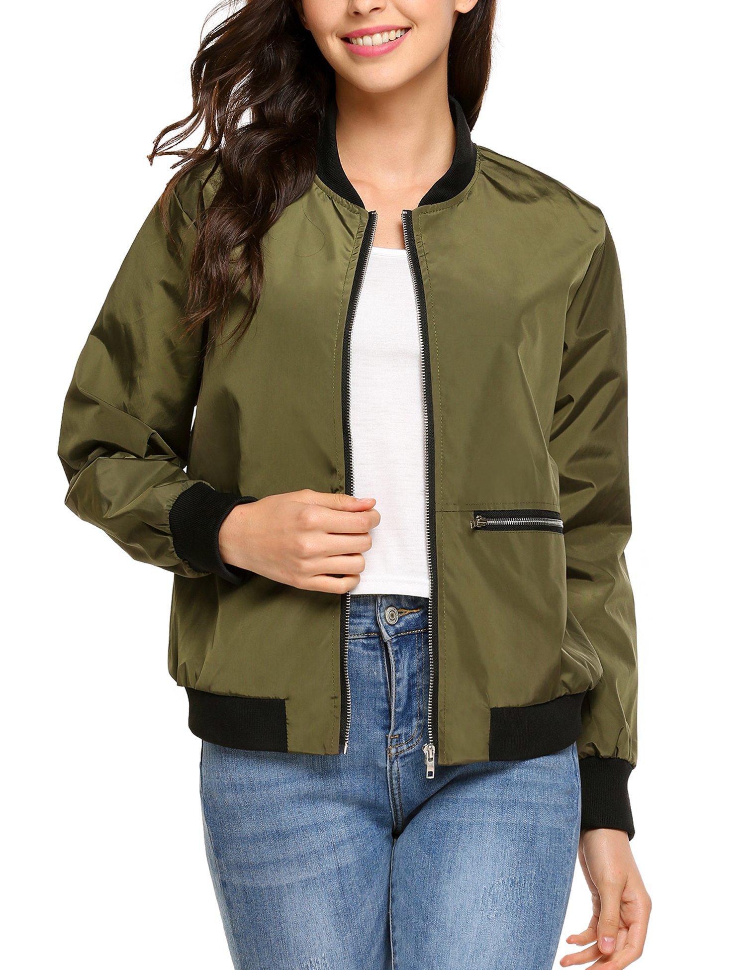Beyove Women Basic Ruffle Top Baggy Quilted Jacket Casual Business Coat