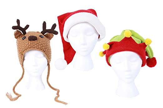 Amazon Dei Christmas Holiday Knit Elf Hat Reindeer Hat And
