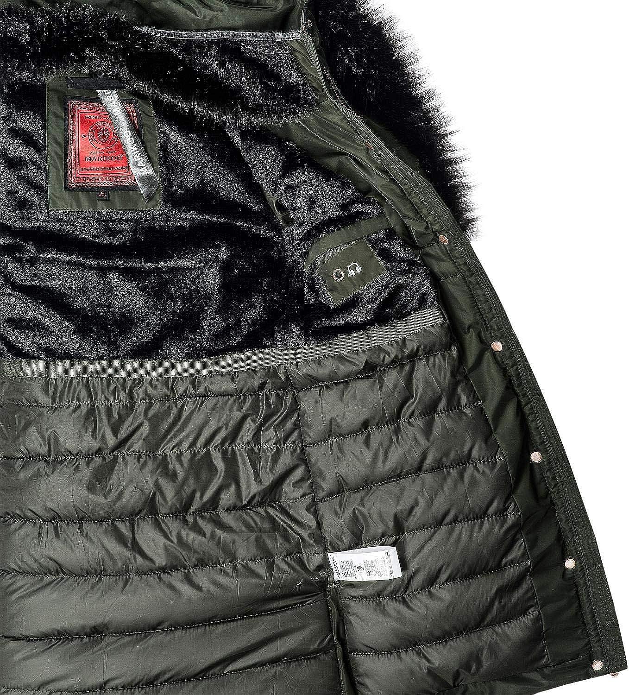 Marikoo Damen Mantel Wintermantel Steppmantel Turnam (vegan hergestellt) 3 Farben XS XXL