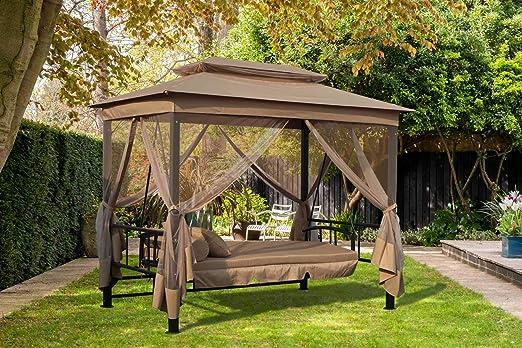 FoxHunter Garden Swing hamaca 3-4 plazas banco de muebles cama ...