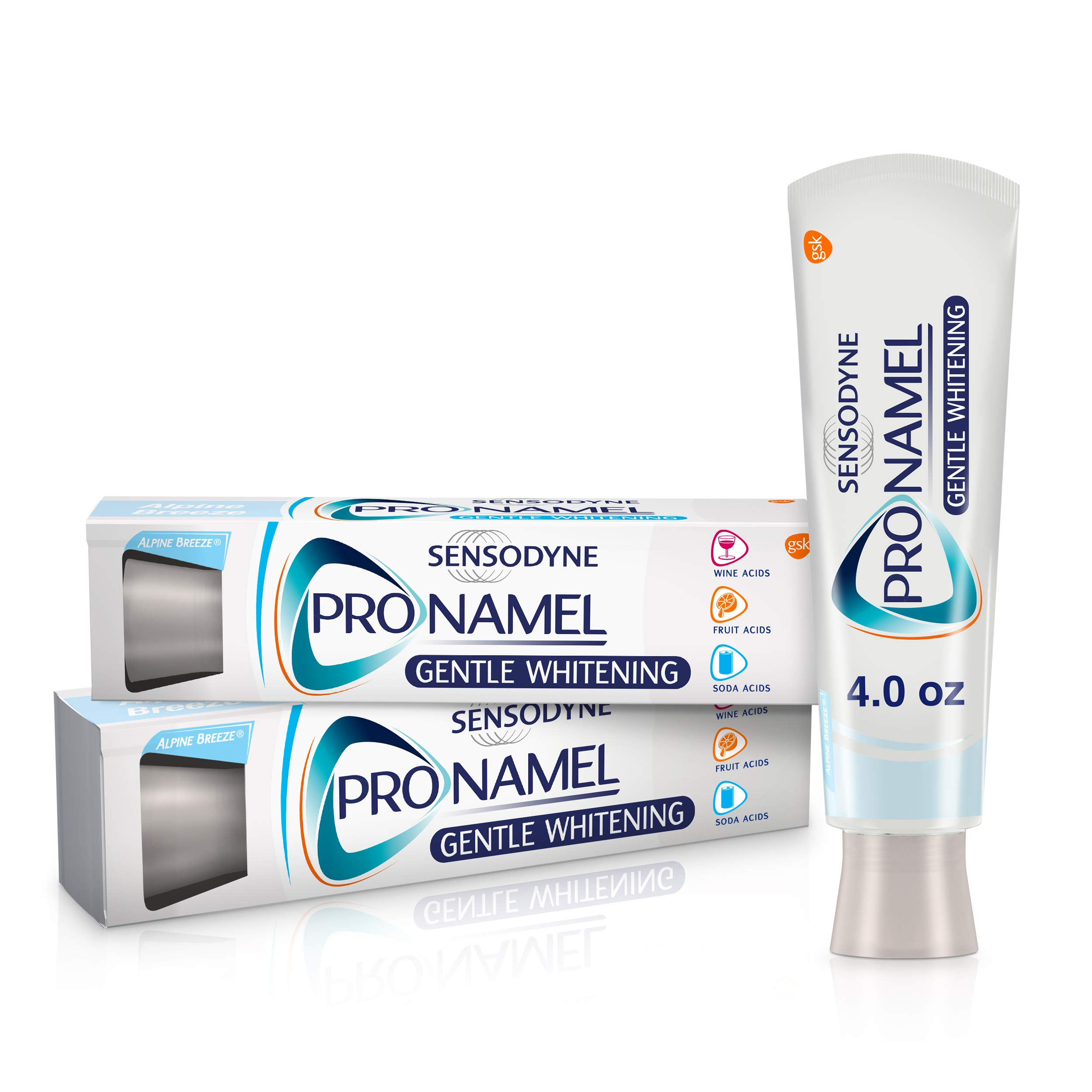 Sensodyne Pronamel Gentle Teeth Whitening Enamel Toothpaste for Sensitive Teeth, to Reharden and Strengthen Enamel, Alpine Breeze - 4 Ounces (Pack of 2)