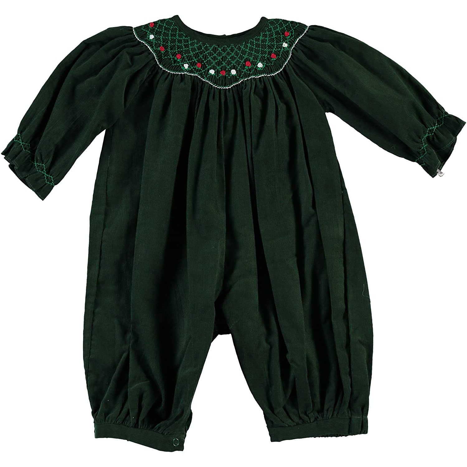 Carriage Boutique Baby Girls Green Holiday Long Sleeve Longall