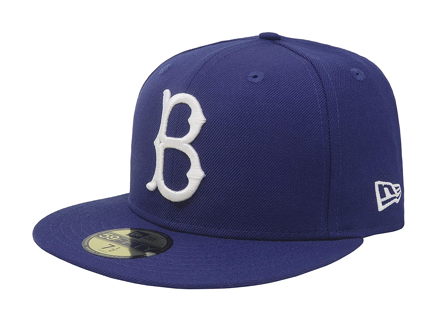 Amazon.com  New Era 59Fifty Hat Brooklyn Dodgers Cooperstown 1949 Wool  Fitted Blue Headwear Cap  Sports   Outdoors c5fa6b62105