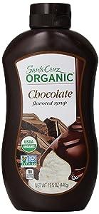 Santa Cruz Organic Chocolate Syrup, 15.5 Ounce (Pack of 12)
