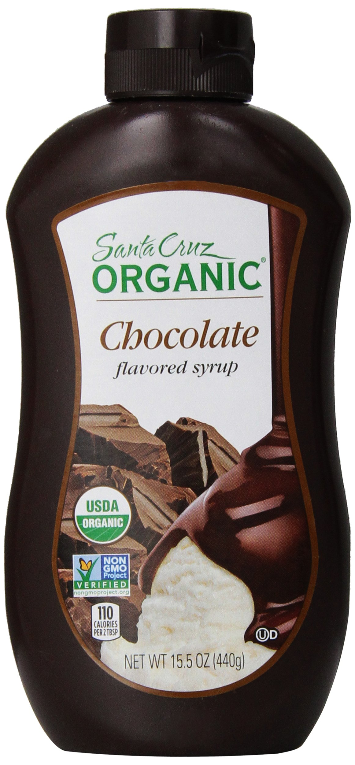 Santa Cruz Organic Chocolate Syrup, 15.5 Ounce (Pack of 12)