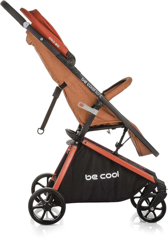 Be Cool Light Poussette L/ég/ère de 0 /à 15 kg Pliante Compacte Suspension /à 4 Roues Bulle de Pluie 1 Unit/é Orange