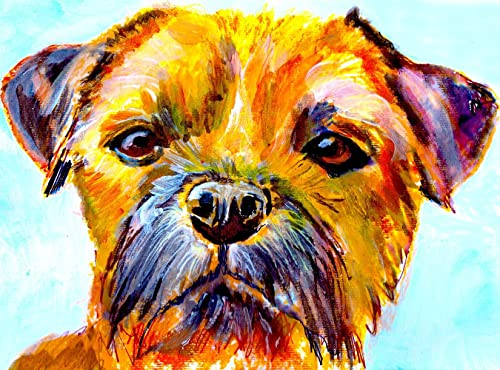 Amazon Com Border Terrier Wall Art Print Colorful Dog Memorial Art Nursery Decor Bt Owner Gift Watercolor Painting Decor Hand Signed By Pet Artist Oscar Jetson Choice Of Sizes Handmade