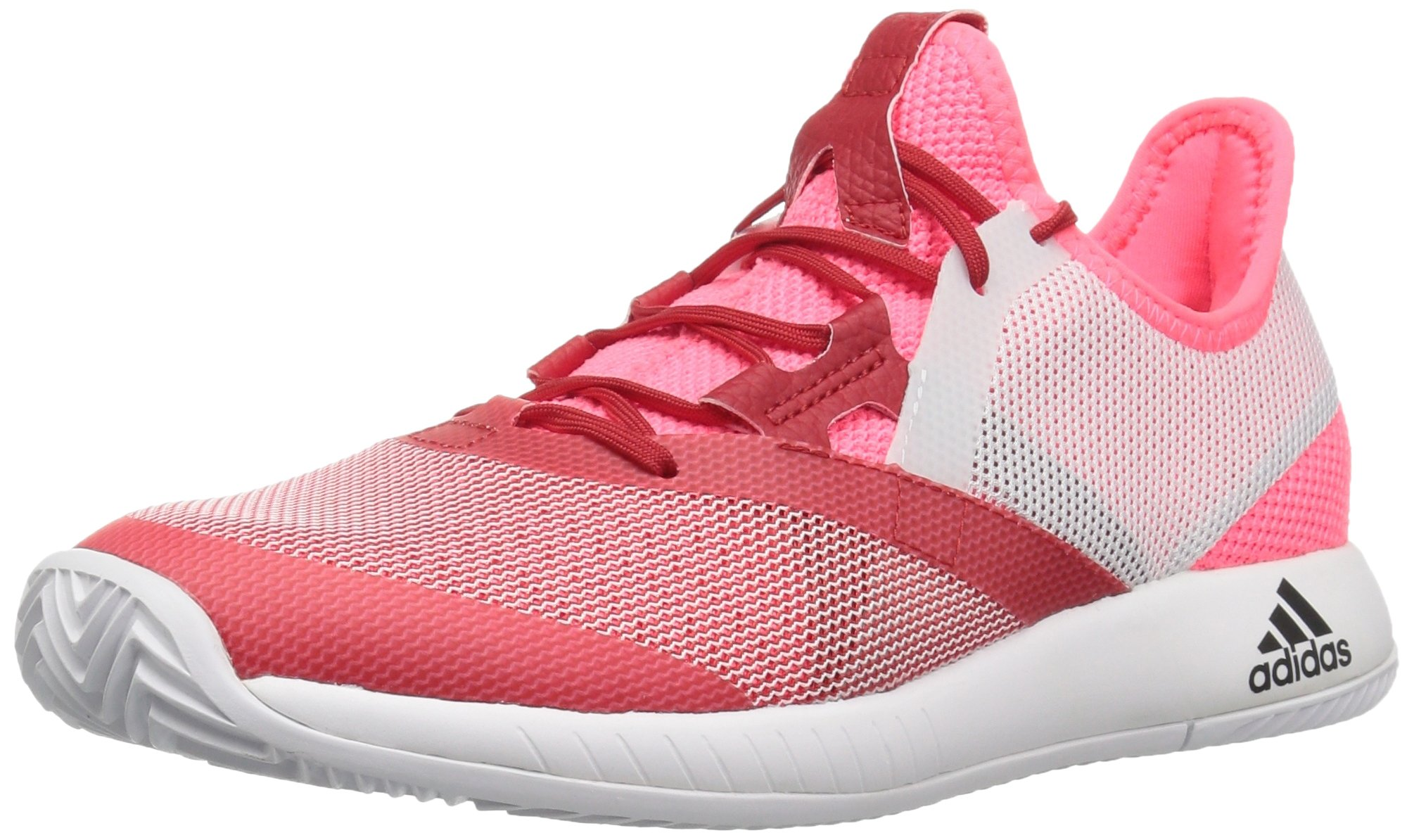 adidas Women's Adizero Defiant Bounce Tennis Shoe Flash red/White/Scarlet 6 M US by adidas (Image #1)
