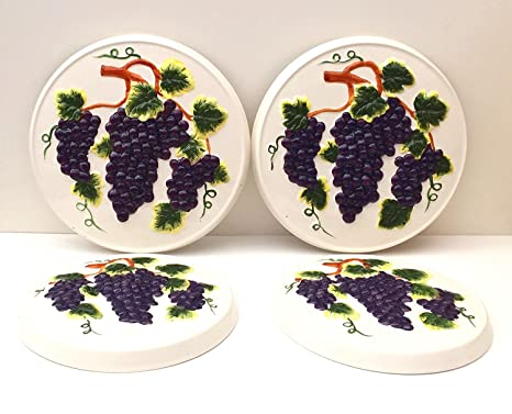 Tuscany 3D Grape 4 Piece Kitchen Stove Cover Set  sc 1 st  Amazon.com & Amazon.com: Tuscany 3D Grape 4 Piece Kitchen Stove Cover Set ...