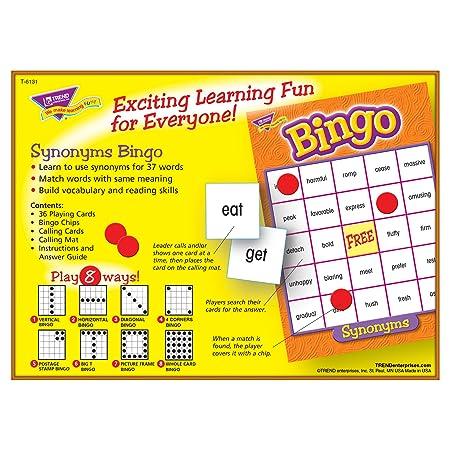 Amazon Synonyms Bingo Game Toys Games