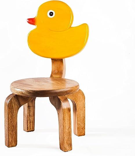 Silla Infantil robusta, madera, diseño de pato: Amazon.es: Bebé