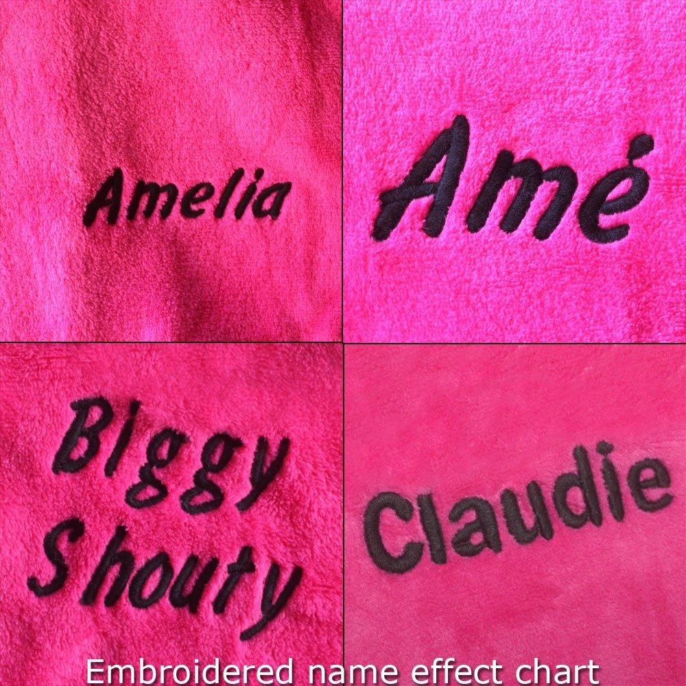 Feetoo bordados nombre chica Albornoz ciruela terciopelo de coral rojo de los túnicas: Amazon.es: Ropa y accesorios