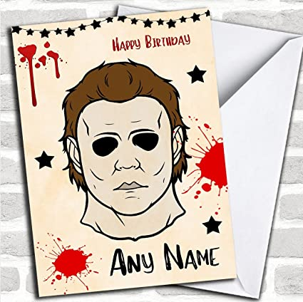 Michael Myers Halloween Personalized Birthday Card