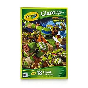 Crayola Kids Teenage Mutant Ninja Turtles TMNT Giant Poster Coloring Book