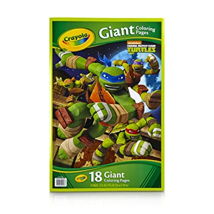 Crayola Kids Teenage Mutant Ninja Turtles TMNT Giant Poster ...